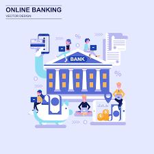 Bank Graphic Design Online Banking Flat Design Concept Download Free Vectors