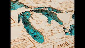 Lake Michigan Bathymetry Chart