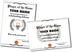 Free Printable Sports Certificates And Sports Awards