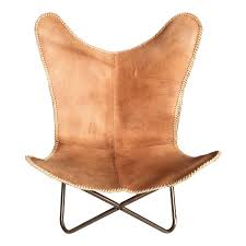 ashton light tan leather erfly chair industrial chic style furniture oli grace