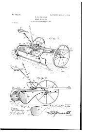 A winston inventor's horse drawn road scraper patented 100 years ago