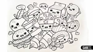 Cute Kawaii Food Coloring Pages Doodleshow Tos In 2019 Food