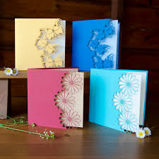 handcrafted Cards ... Beautiful Color .... Butterfly Or Daisy ...