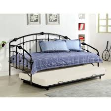 Winsome Twin Size Metal Day Bed Daybed Frame Pop Up Trundle With ...