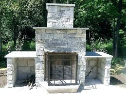 average cost of stone outdoor fireplace home ideas