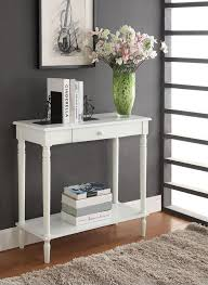 sofa table decor. Furniture, Foyer Table Decorating Ideas Palmer Weiss White Entryway Console Sofa Narrow Decor