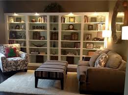 ikea billy lighting. ikea dark brown billy bookcases painted white with bm palladium blue onu2026 ikea lighting