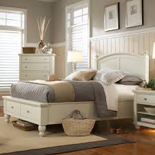 Alstons Manhattan Bedroom Furniture Aspenhomes Cambridge Wood Storage Panel Bed In Eggshell By Humble