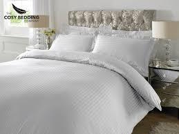white luxury bedding. Modren White Sateen Stripe Luxury Bedding Set White For U