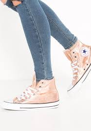converse metallic. converse chuck taylor all star - high-top trainers metallic sunset glow/white/black zalando.co.uk
