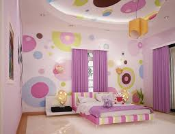 Room Decorating With Paper Interior Girl Room Wall Decor Features With Purple Window Curtain