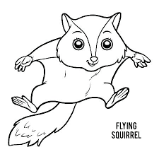Coloring Page Of A Squirrel Flying Squirrel Coloring Page Squirrels