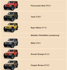 2015 Jeep Wrangler Color Chart Vwvortex Com Looking At Buying A Jeep Educate Me