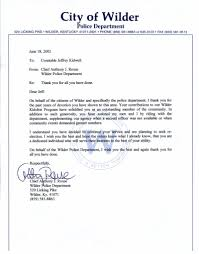Thank You Letter To Police Department Perfect Resume Format