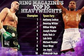 Tyson Fury remains top of Ring Magazine ...