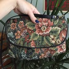 Adorable vintage 70s tapestry purse Jennie Vaughn... - Depop