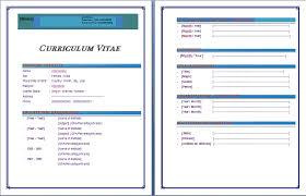 Cv Microsoft Word Format Download Cv Format In Ms Word Cv Template