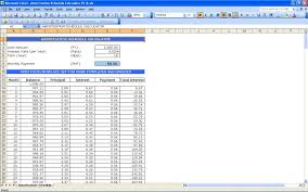 amortization schedule balloon loan payment calculator excel templates formula agreement amount calculation