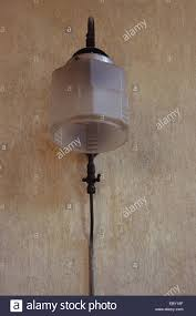 Old Gas Wall Lights Old Gas Lamp With Frosted Glass Shield Mounted On Painted