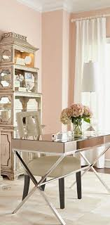 Mirrored office furniture Luxury Beautiful Living Rooms And Offices Pastels More Pinterest Dont Be Afraid To Blush Peach Bedroom Pinterest Home Office