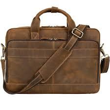 jack chris men s leather briefcase messenger bag