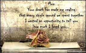 missing your mother on mothers day