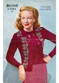 Vintage Knitting Patterns Unique PDF Vintage Knitting Pattern Bestway A48 Ladies Fair Isle Flower