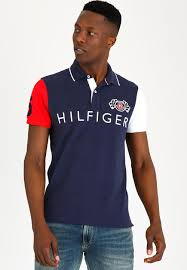 tommy hilfiger colour block badge slim blue