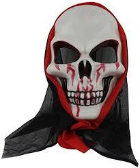 Morenitor Horror Face Mask <b>Skeleton</b> Ghost <b>Skull Halloween Party</b> ...