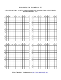5 Minute Multiplication Worksheet Kids Subtraction