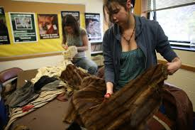 local animal rights activists turn old fur coats into toys for animals