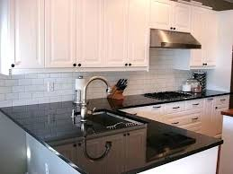 white cabinets black countertops white cabinets black i like the white subway tile with the dark