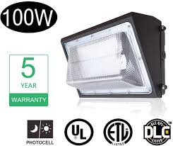Led Wall Pack Lights Amazon De Power 100w Led Wall Pack Light Fixture With Dusk To Dawn Photocell Hps Hid Replacement 5000k Ip65 Waterproof Outdoor Industrial Commercial Area