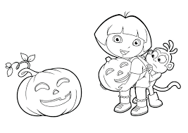 Dora Halloween Coloring Pages Coloring Pages Printable Coloring