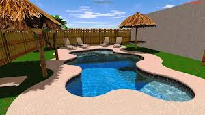 D 17 3D Freeform Swiming Pool With Umbrellas