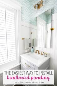 the easiest way to install wainscoting