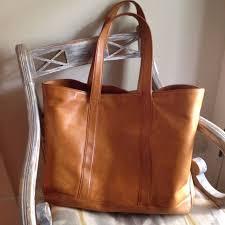 vintage ll bean genuine leather large tote bag per
