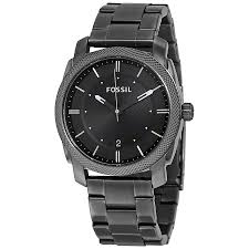 fossil watches jomashop fossil machine black dial smoke ip stainless steel men s watch