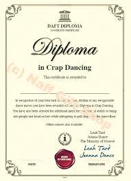 Dance Award Certificate Certifcate In Crap Dancing