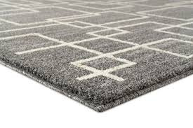 modern geometric area rug gray