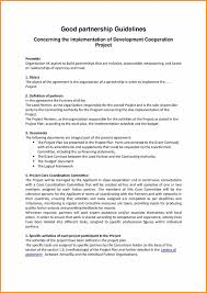 Partnership Contracts Template With 9 Partnership Agreement Cook