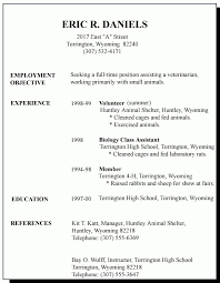 How To Write A Resume For High School Students Custom High School Student Resume First Job 48 First Job Resume For High