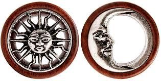 <b>KUBOOZ</b> New Tribal Sun & Moon Organic Natural Wooden Flesh ...