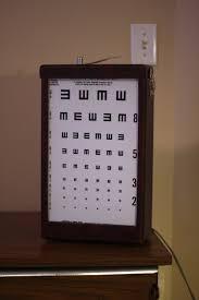Vintage Eye Chart Light Box Fs Household Stuff Misc Tww