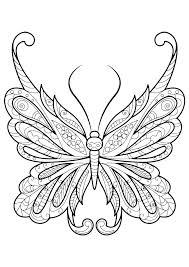 Art Coloring Pages For Kindergarten Butterfly Coloring Pages