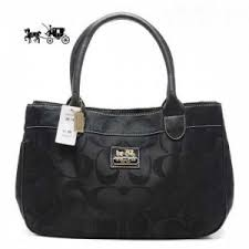 Coach In Signature Large Black Satchels Outlet Sale VIP Shop
