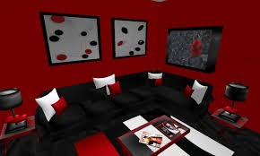 Red Living Room Decorating Black And Red Living Room Accessories House Decor