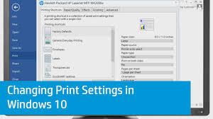 Changing Print Settings In Windows 10 Youtube