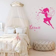 Wandtattoo Mit Name Für Kinderzimmer Kleine Fee Wall Artde