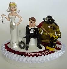 Wedding Cake Topper Firefighter Fire Department Fireman Themed Key